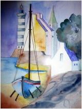 Segelboot von Brigitte Weidemann