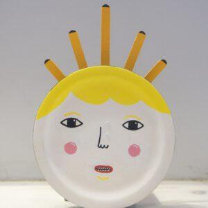 Ein sonniges Gesicht als Wandschmuck