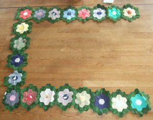 Mein Garten-Quilt macht Fortschritte