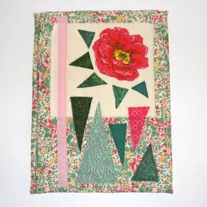 Textilbild - Rose