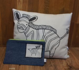Zebra Kissen / handmade zebra cushion