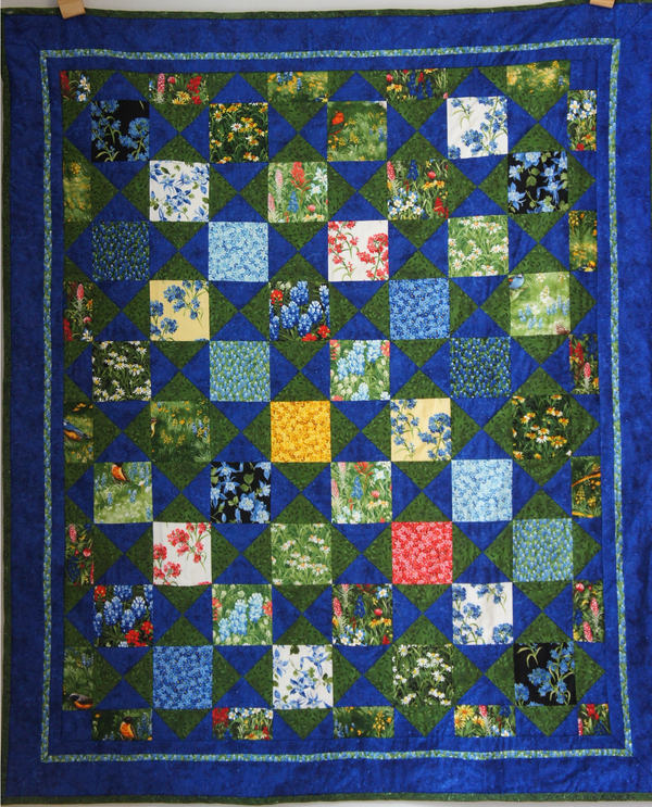 Garten-Quilt mit Vierecken