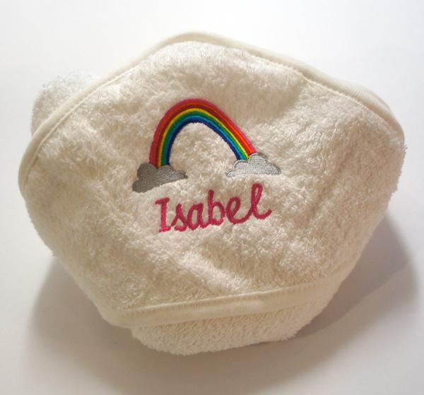 Kapuzentuch für Isabel mit Regenbogen