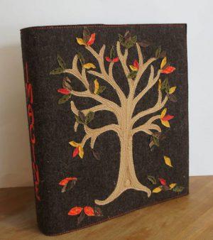 Besticke Ordnerhülle Herbst | embroidered binder cover