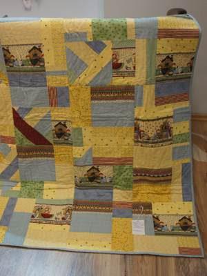 Raggedy Ann - abstrakt Quilt