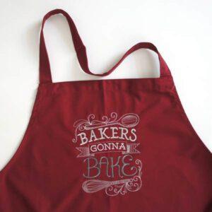bestickte Schürze - Baker's gonna Bake