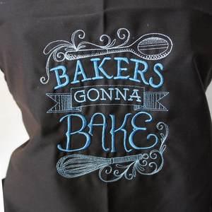 Stickerei 'Bakers gonna Bake'