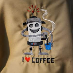 Stickerei - I love coffee