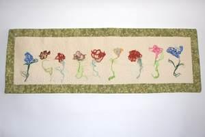 Textilbild - FadenBlumen