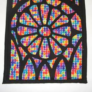 Textilbild Kathedralenfenster Detail
