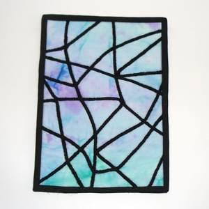 Textilbild Kathedralenfenster Abstrakt