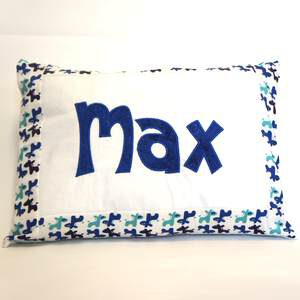Namenskissen Max in blau