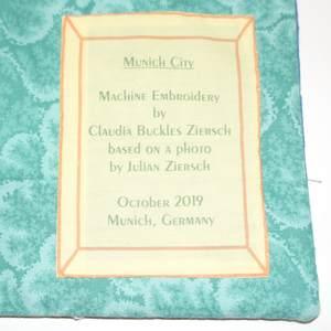 Munich City Textilbild - Etikett