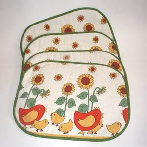 4 Stück - Tischset mit Hühner