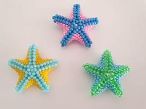 Seesterne aus Perlen fädeln