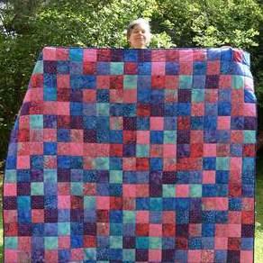 Patchworkdecken und Quilts