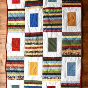 Patchworkdecke Stripes and Squares
