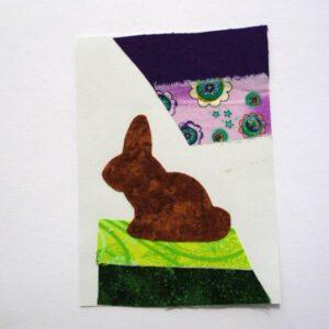 Postkarte aus Stoff ohne Nähen