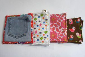 Topflappen aus alten Jeans